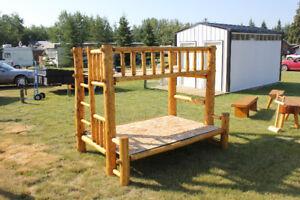 Log Bunk Bed
