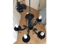 Black chandelier light