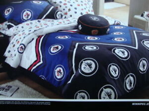 DOUILLETTE DE HOCKEY LNH NHL JETS DE WINNIPEG LIT DOUBLE FULL
