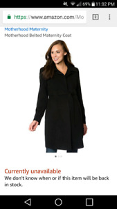 Motherhood maternity coat, new with tags