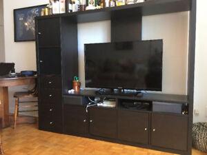 Ikea Lappland TV storage unit with added storage