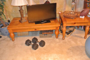 Cffee table and end table solid pine