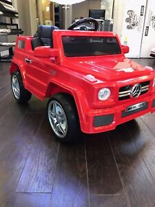 KIDS RIDE ON TOY CARS- Mercedes w/ Rubber wheels n Leather seat