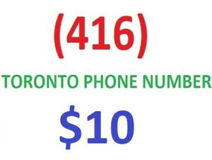 416 AREA CODE PHONE NUMBER FOR SALE - VARIOUS NUMBERS AND PRICES