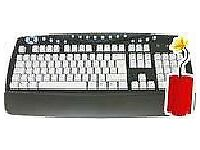 Wired Multimedia Full Size Keyboard Black/Grey – Brand New!