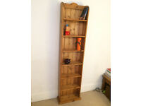 Antique solid pine bookcase