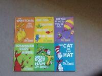 Six hardback Dr Seuss books