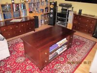 John Lewis storage media coffee table and 2 cabinets.