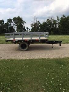 7' x 10' Utility trailer with removable sides.