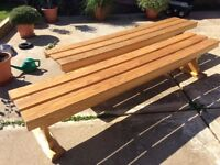 Solid Oak 6ft 6ins Bench in good condition