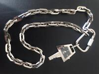 D&G watch on silver chain