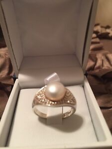 Handcrafted Sterling Silver Pearl Ring