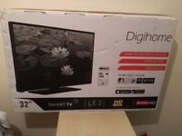 """Great condition 32"""" DIGIHOME LED SMART TV hd ready freeview"""