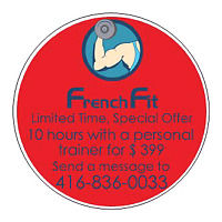 Personal trainer with French Fit