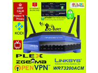 Linksys WRT3200ACM IPTV OpenVPN Zgemma Kodi IPTV DDWRT VPN Router -new only opened to install DDWRT