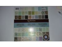 177 sheets Scrap booking paper pad Recollections brand blue/ green/brown/ vintage