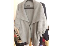 80's style batwingish oversized cardigan with huge collar and large button - from M&S size medium