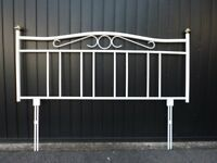 Metal headboard for a 5 foot bed.