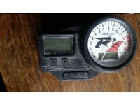 YAMAHA R1 4XV CLOCKS FROM 1999 MODEL. £120