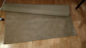 Low pile area rug