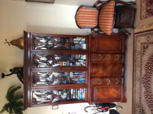 Gorgeous Cherry Wood Antique China Cabinet