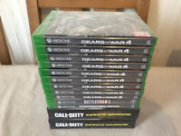 13X XBOX ONE S GAMES - BRAND NEW & SEALED - CALL OF DUTY - GEARS OF WAR 4