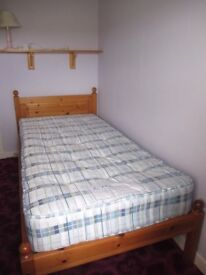 Single Bed and quality mattress.