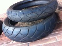 set of trail tyres 120/160