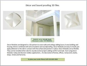 Décor and Sound proofing 3D Tiles