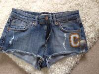 Top shop short shorts size 10