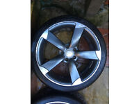 "4x 19"" AUDI Rotor alloys with tyres for A3, S3, A4, A6, TT, TTRS (Replica)"