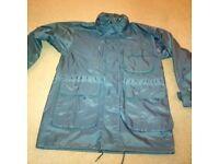 "John Lewis Jonelle Womens Rain Jacket Coat Navy Blue 34"" Chest with Hood"