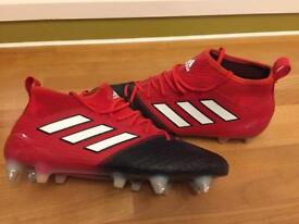 Football boots ADIDAS ACE 17.1 primeknit SG-red/white/core black size 7 & a half
