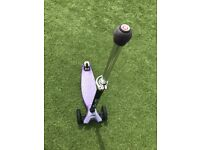 purple Micro-Scooter with 'joystick' steering