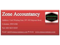 Need accountant for Tax returns,Book keeping,Payroll,Company Formation,VAT,Annual Accounts save ££s
