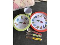 Children's dinner plate set