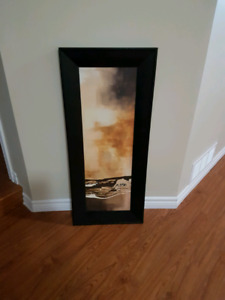 Abstract art with wooden frame