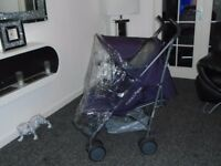 Mamas and papas cruise lie flat umberella buggy with raincover