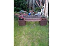 New Garden planter bench