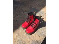 Red Doctor Martens Boots, Children's size 10