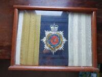 Original Royal Army Service Corps Flag case framed