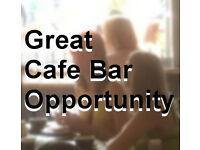 Great new opportunity to run your own cafe bar