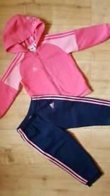 Adidas girls tracksuit
