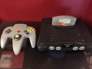 N64 Nintendo With Controller and Game
