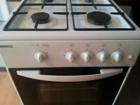 Beko gas cooker with grill and oven. Excellent condition and spotless clean. Delivery
