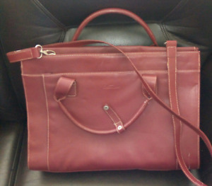 Burgundy briefcase /laptop bag