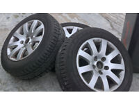 VW GOLF MK 5 ALLOYS WITH VERY GOOD TRYES X4