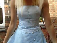 Light Blue Bridesmaid, Prom, Evening Formal Gown Dress Size 6-8
