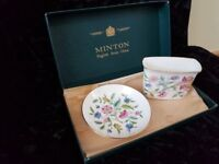 Minton - Small dish/plate and Pot - good condition, though the box is a little battered