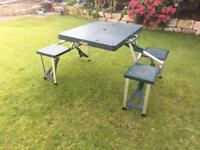 Camping folding table and chairs